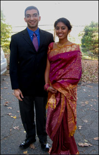 Sameer and Sushma on their way to a wedding